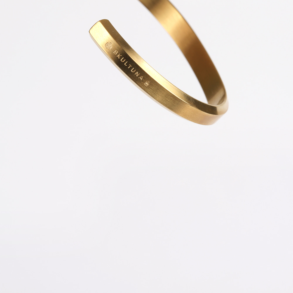 [스컬투나] Icon Cuff - Matte Gold (For Men)