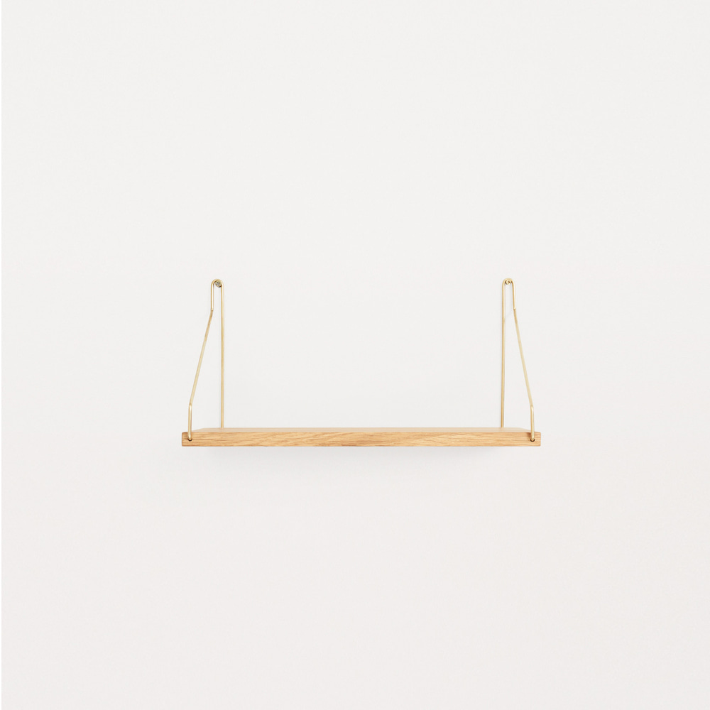[프라마] Frama Shelf 40cm — Oak, Brass