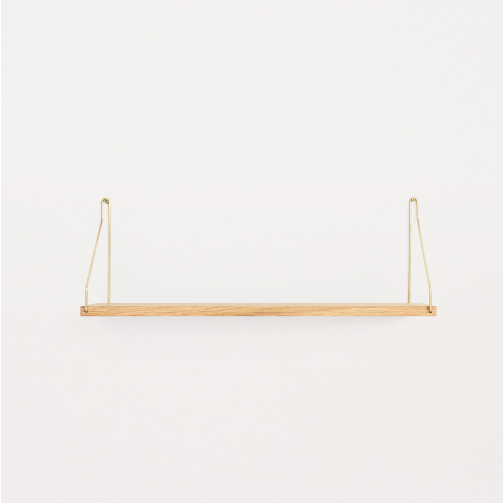 [프라마] Frama Shelf 60cm — Oak, Brass