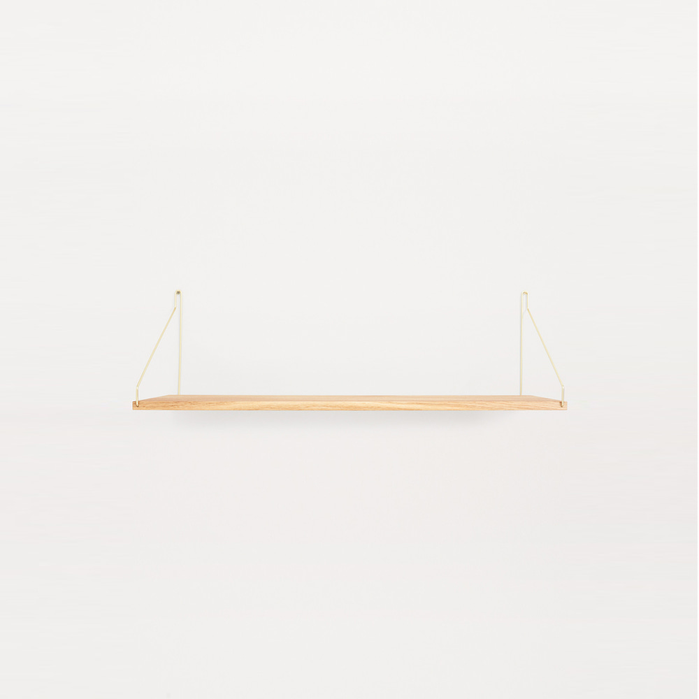 [프라마] Frama Shelf 80cm — Oak, Brass