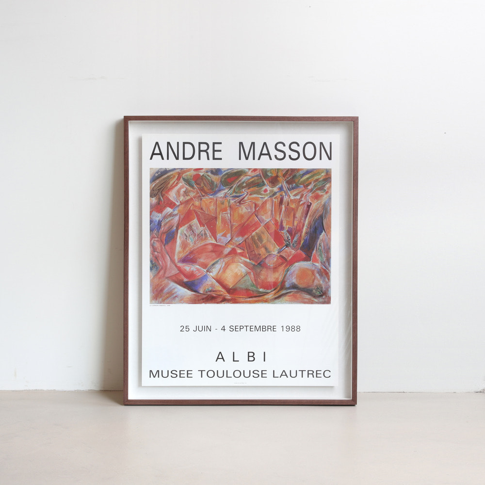 [안드레 마송] Andre Masson — la carriere de Bibemus (액자포함)