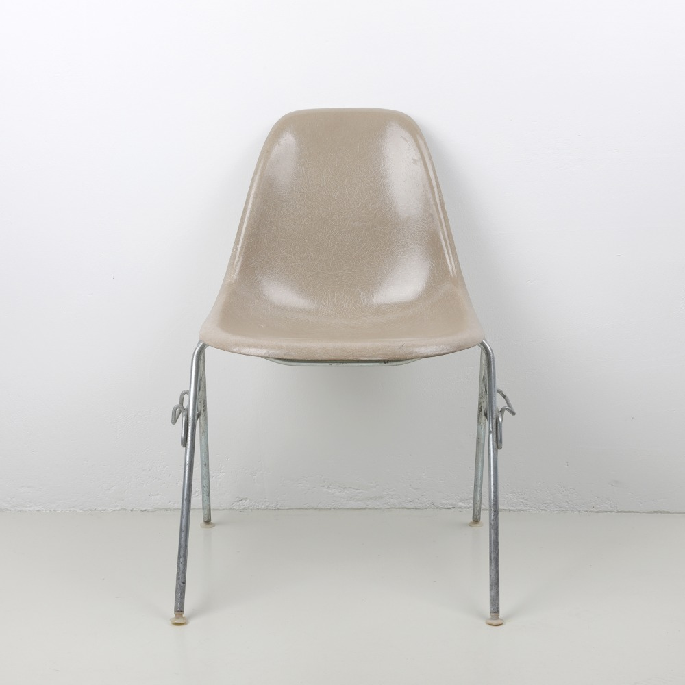 [임스체어] Eames Fiberglass Side Chair(DSS) - Greige