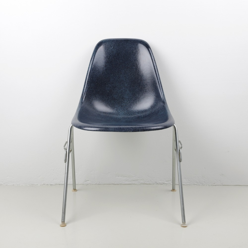 [임스체어] Eames Fiberglass Side Chair(DSS) - Navy Blue