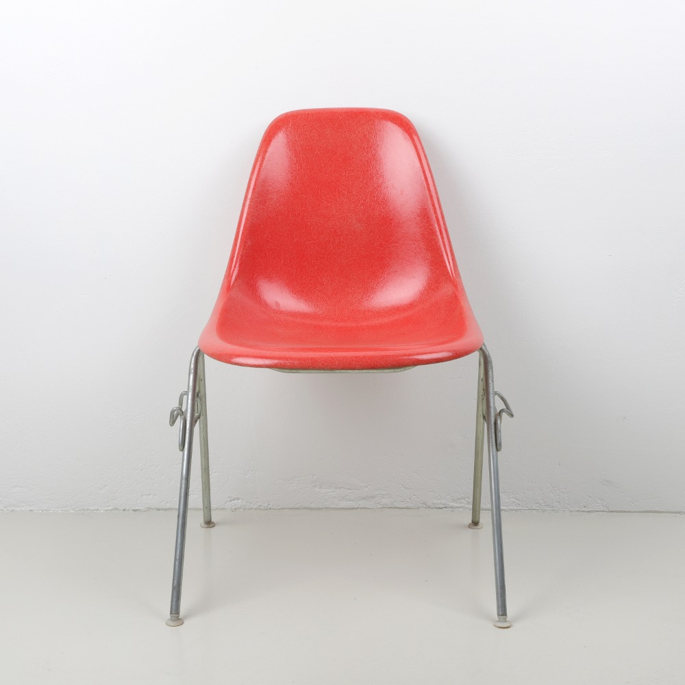 [임스체어] Eames Fiberglass Side Chair(DSS) - Salmon