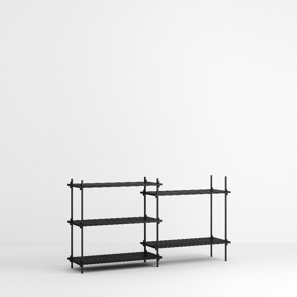 [모비] Shelving System Set — N°5 — Black