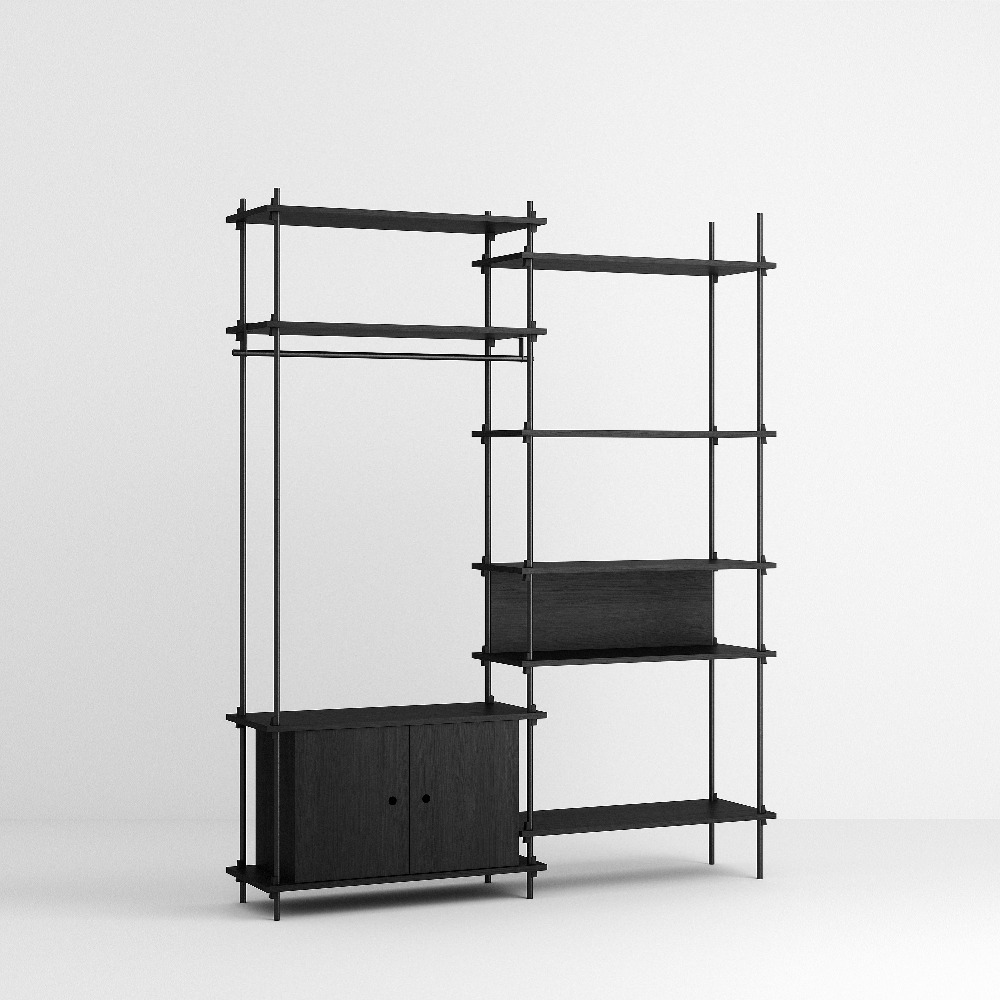 [모비] Shelving System Set — N°14 — Black