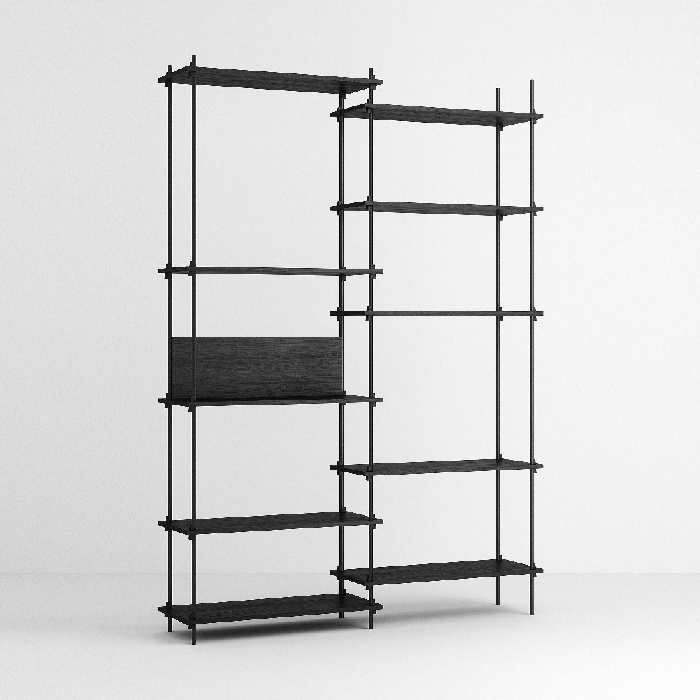 [모비] Shelving System Set — N°8 — Black