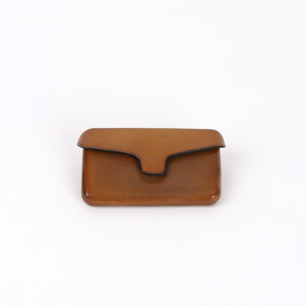 [일부세토] Leather Card Holder With Magnetic — Desert