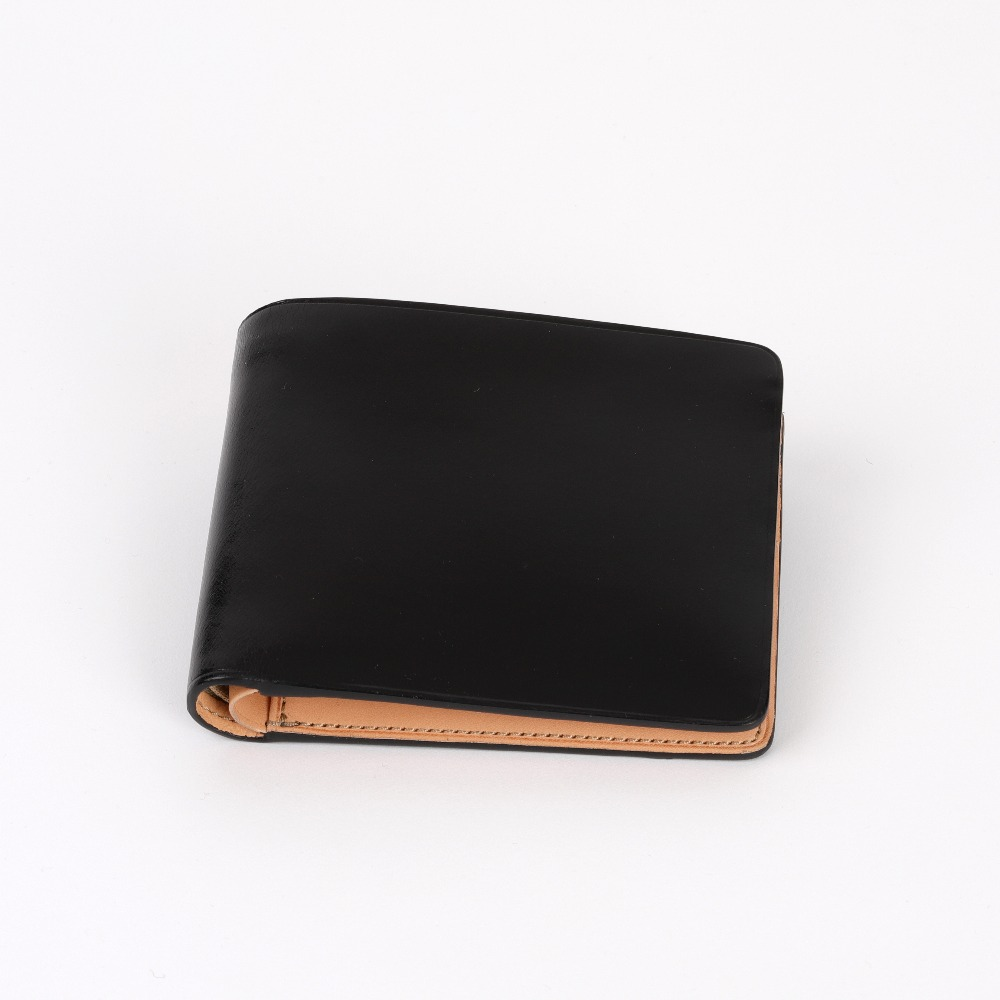 [일부세토] Leather Bifold Wallet — Black