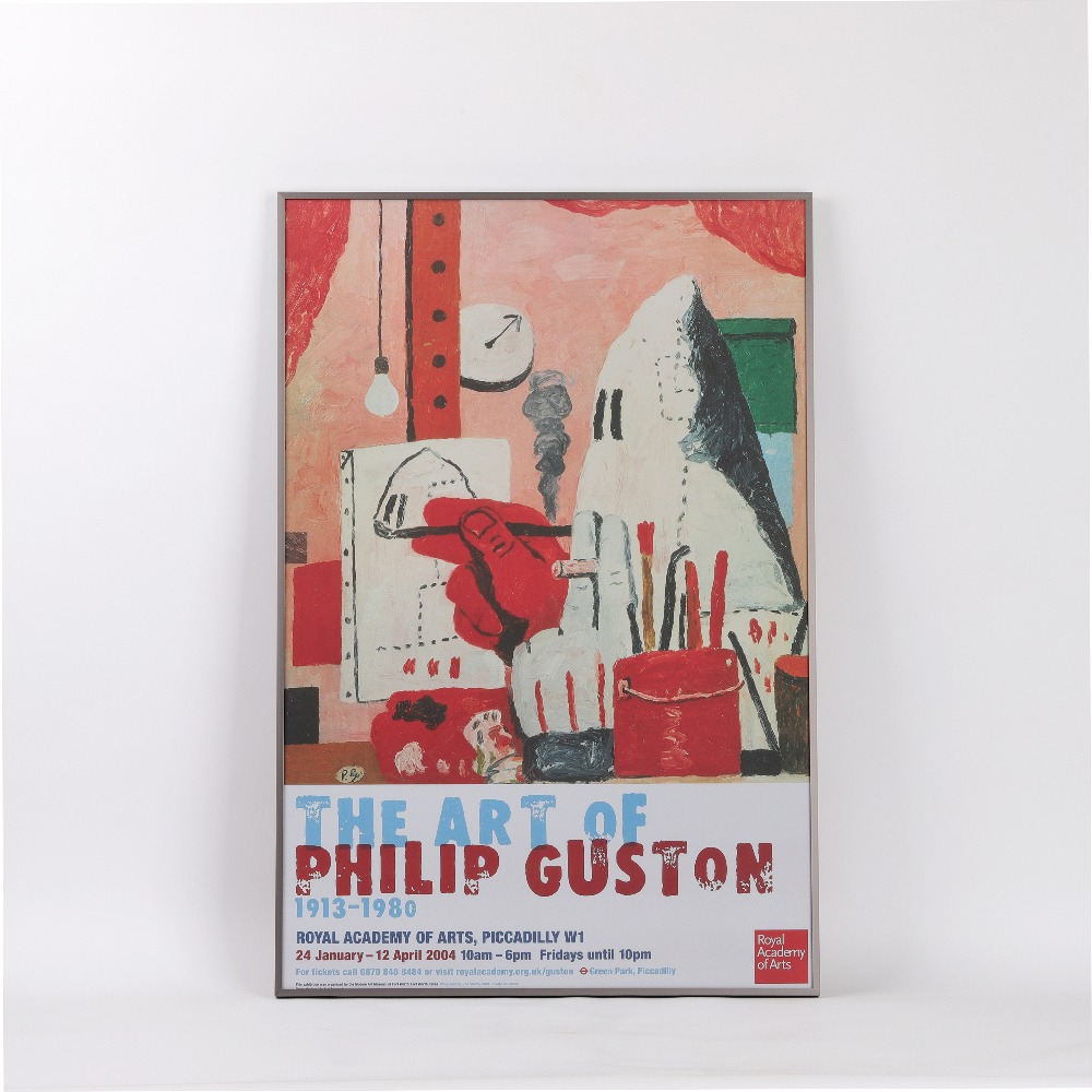 [전시포스터] The Art of Philip Guston 1913-1980 Exhibition (액자포함)