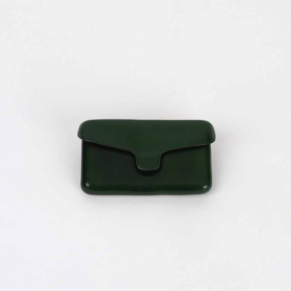 [일부세토] Leather Card Holder With Magnetic — Forestgreen