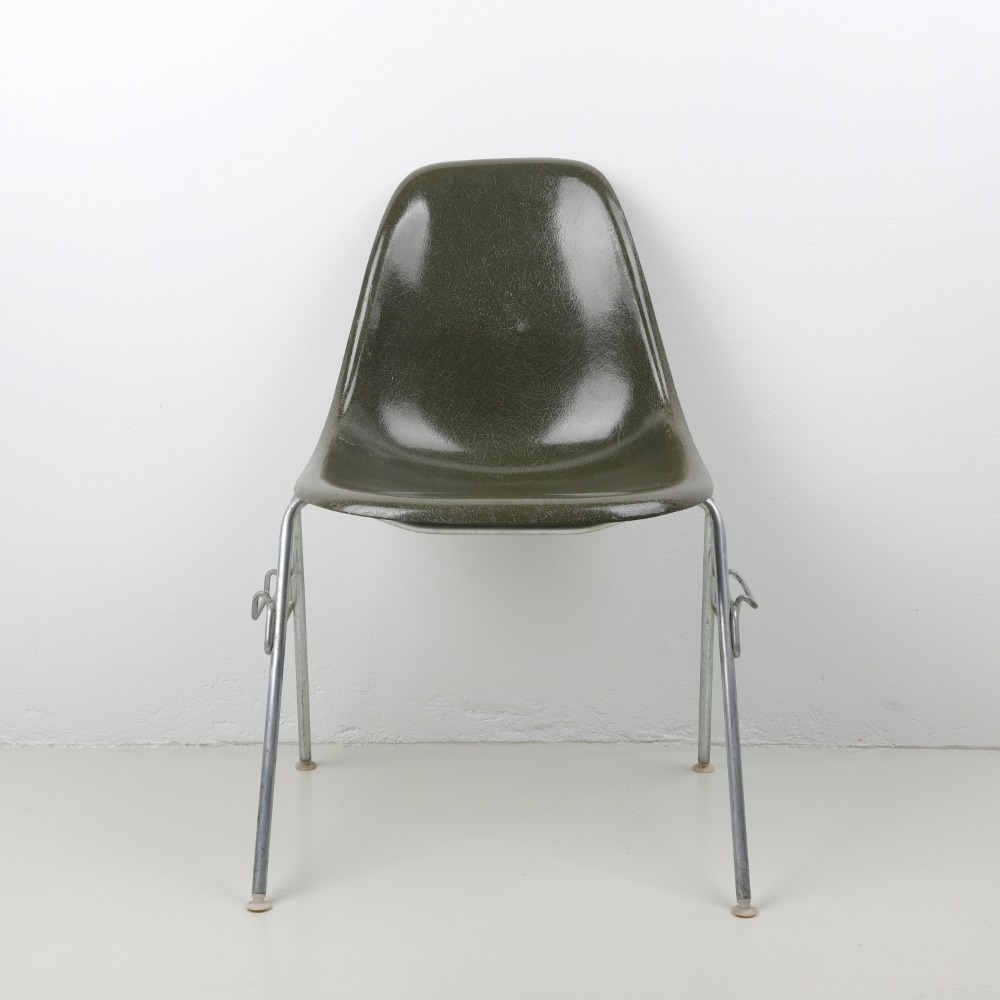 [임스체어] Eames Fiberglass Side Chair(DSS) - Oliver green