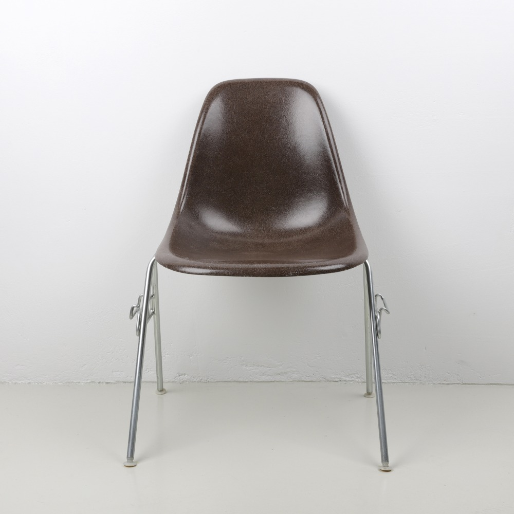 [임스체어] Eames Fiberglass Side Chair(DSS) - Seal brown